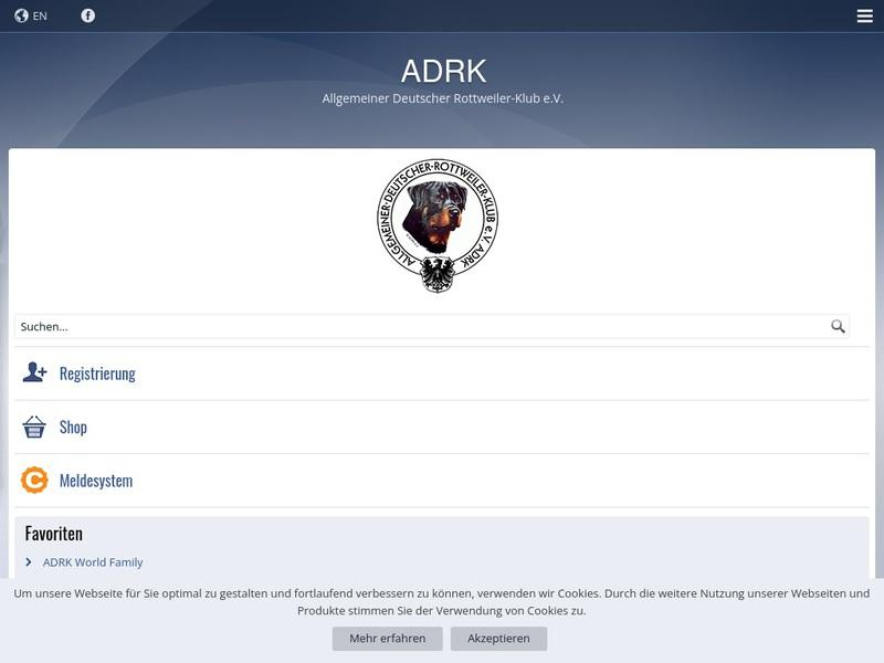 Screenshot von www.adrk.de